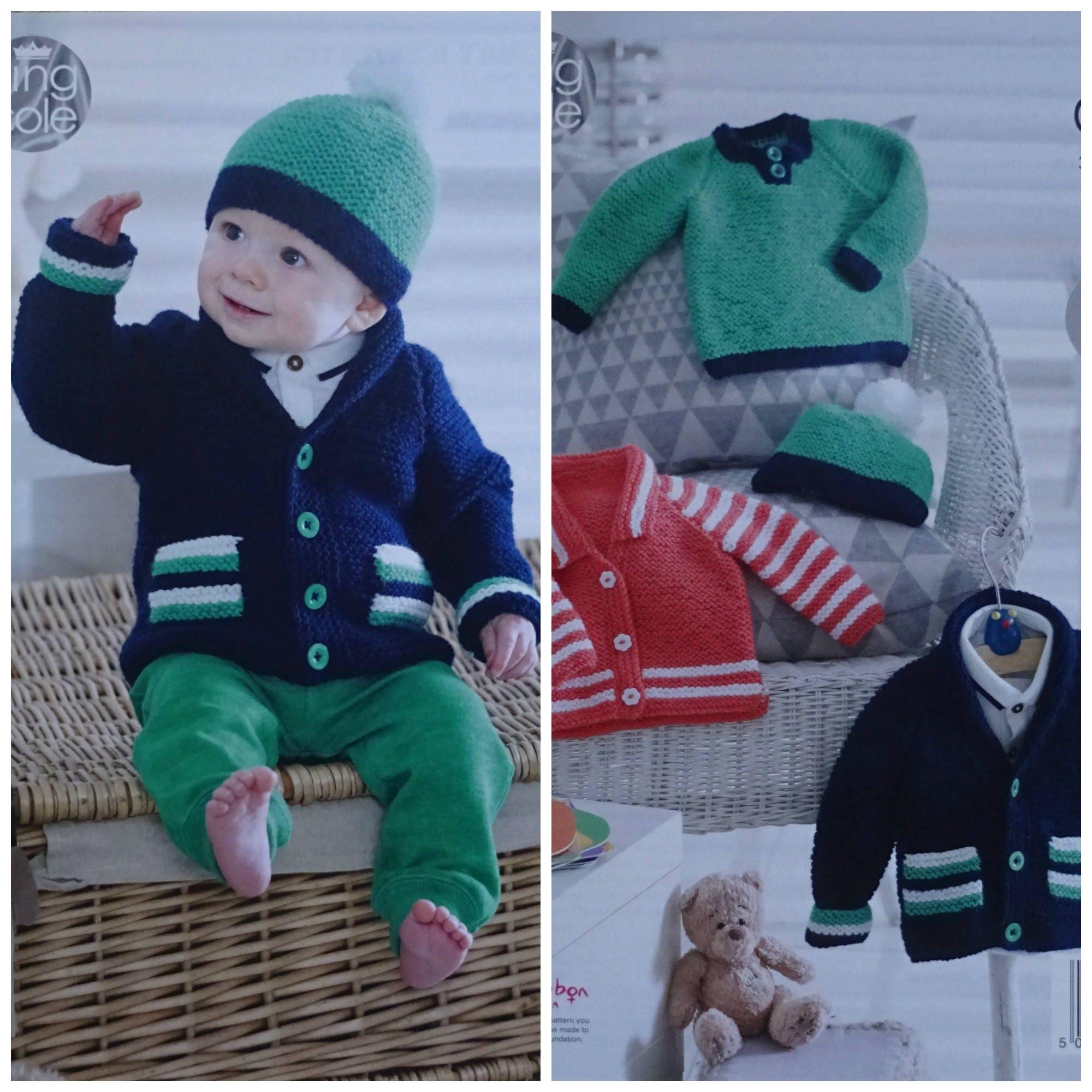 ba665577e79 Baby Knitting Pattern K4948 Babies Easy Knit Jackets