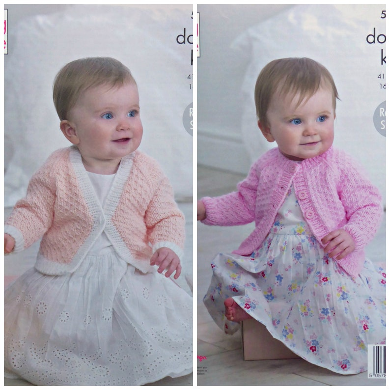 cff6ccef4 Baby Knitting Pattern K5258 Baby Easy Knit Round Neck or