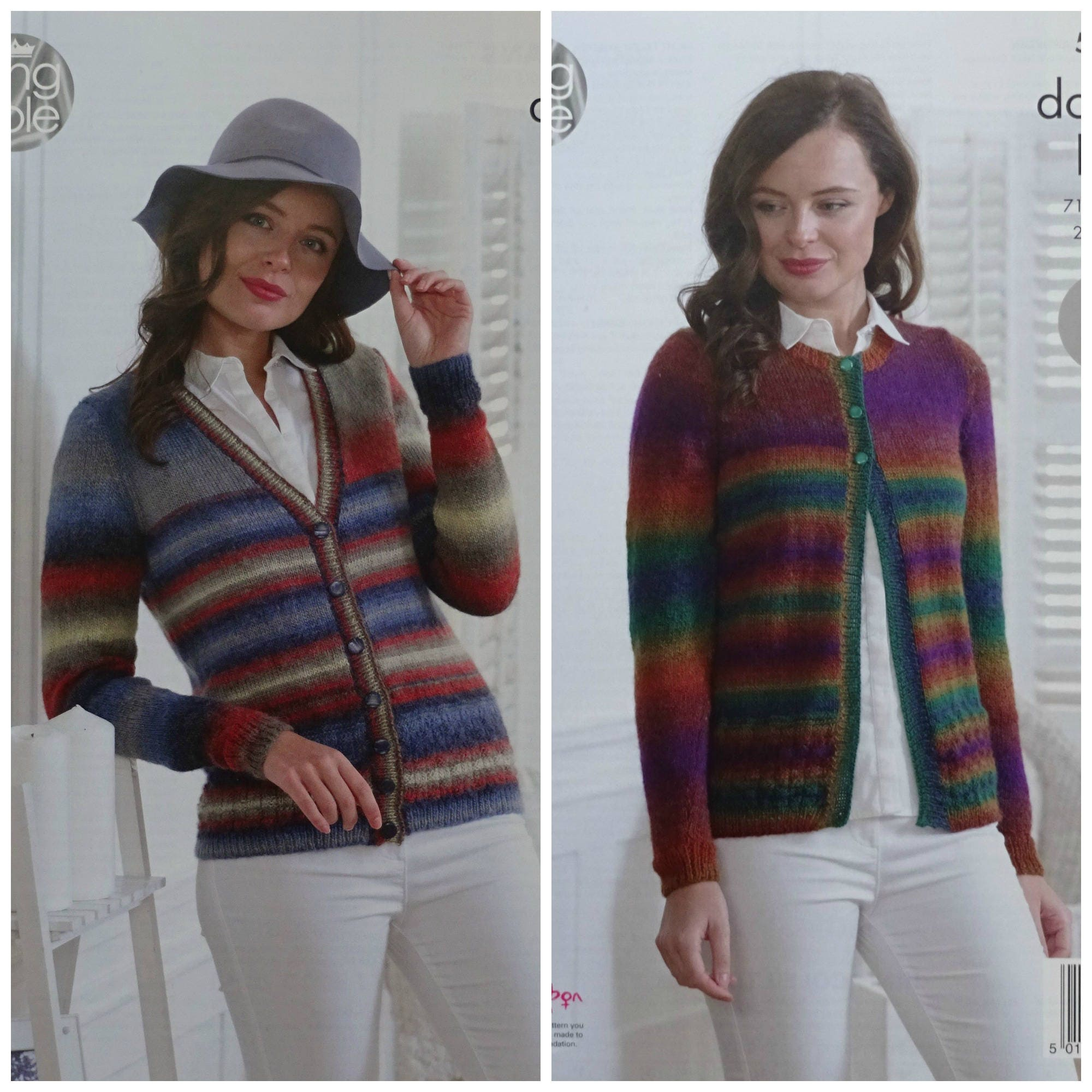 55a7f1179 Womens Knitting Pattern K5006 Ladies Easy Knit Long Sleeve Round ...