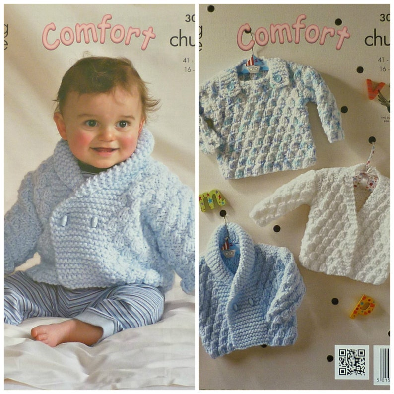 Baby Knitting Pattern K3047 Babies Long Sleeve Jumper And Etsy