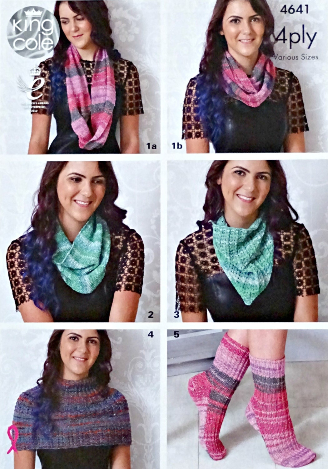 Womens Knitting Pattern K4641 Ladies Twisted Scarf Cowl Snood