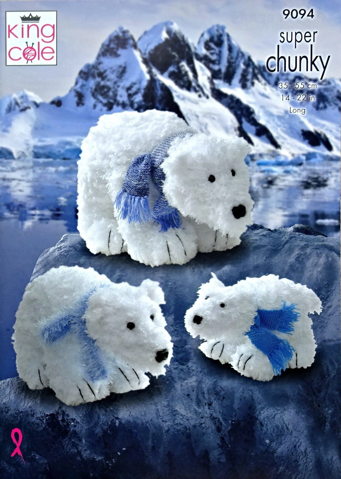 Soft Toy Pattern K9094 3 Sizes Of Polar Bear Stuffed Toys Tufty