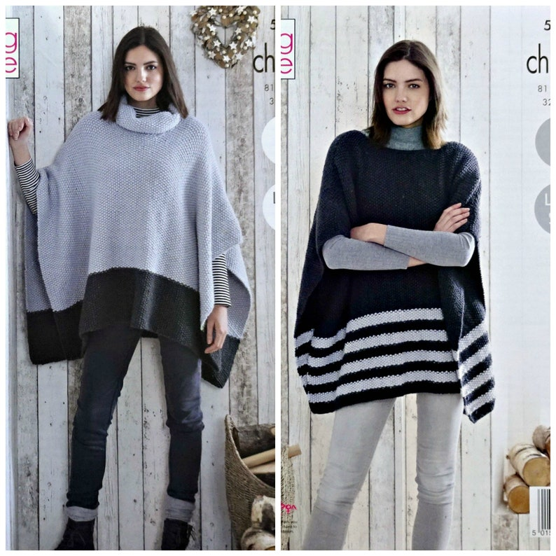 678d7173bcd597 Womens Knitting Pattern K5179 Ladies Easy Knit Cowl Neck or