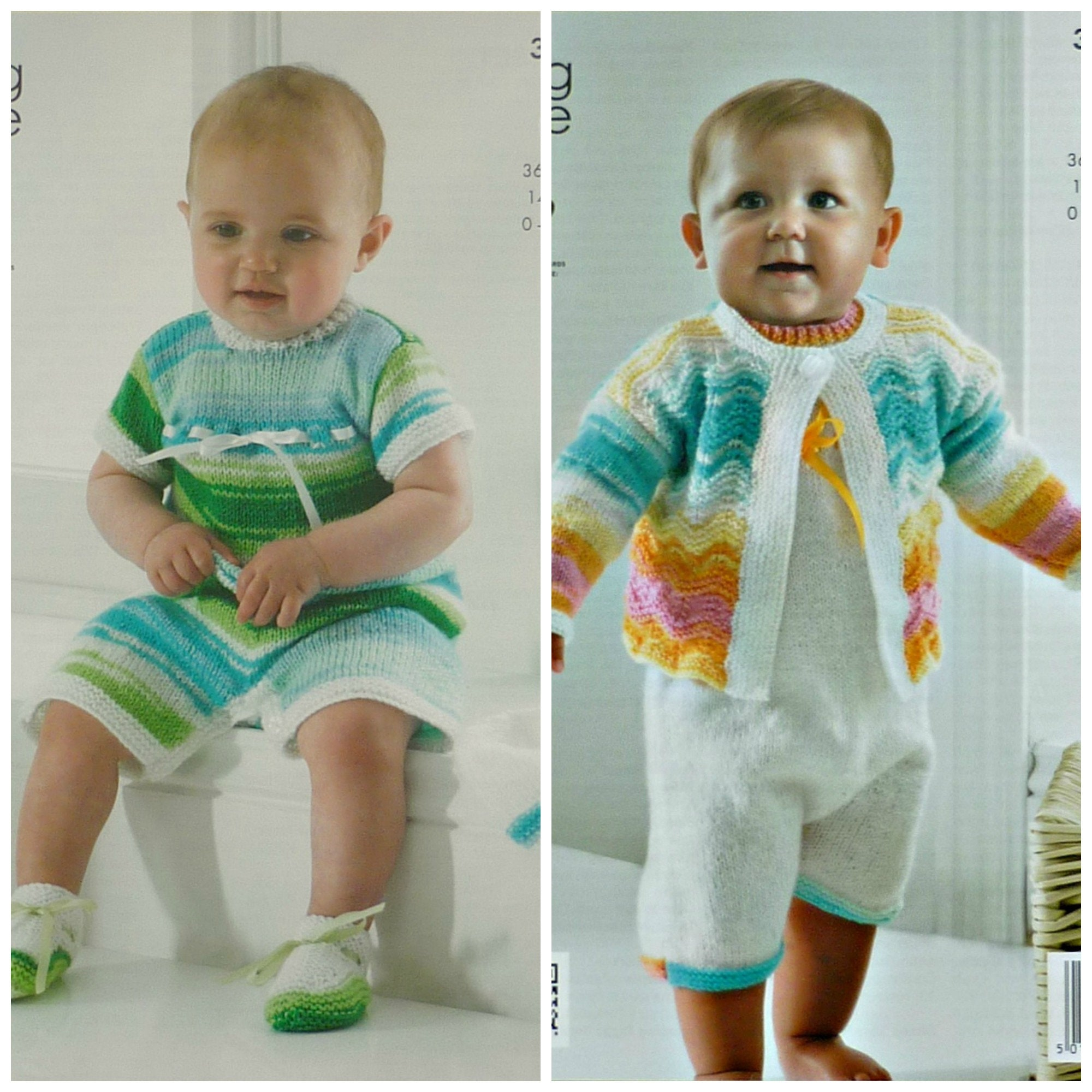 66931bd10672 Baby Knitting Pattern K3792 Babies Romper Suit Cardigan Hat and ...