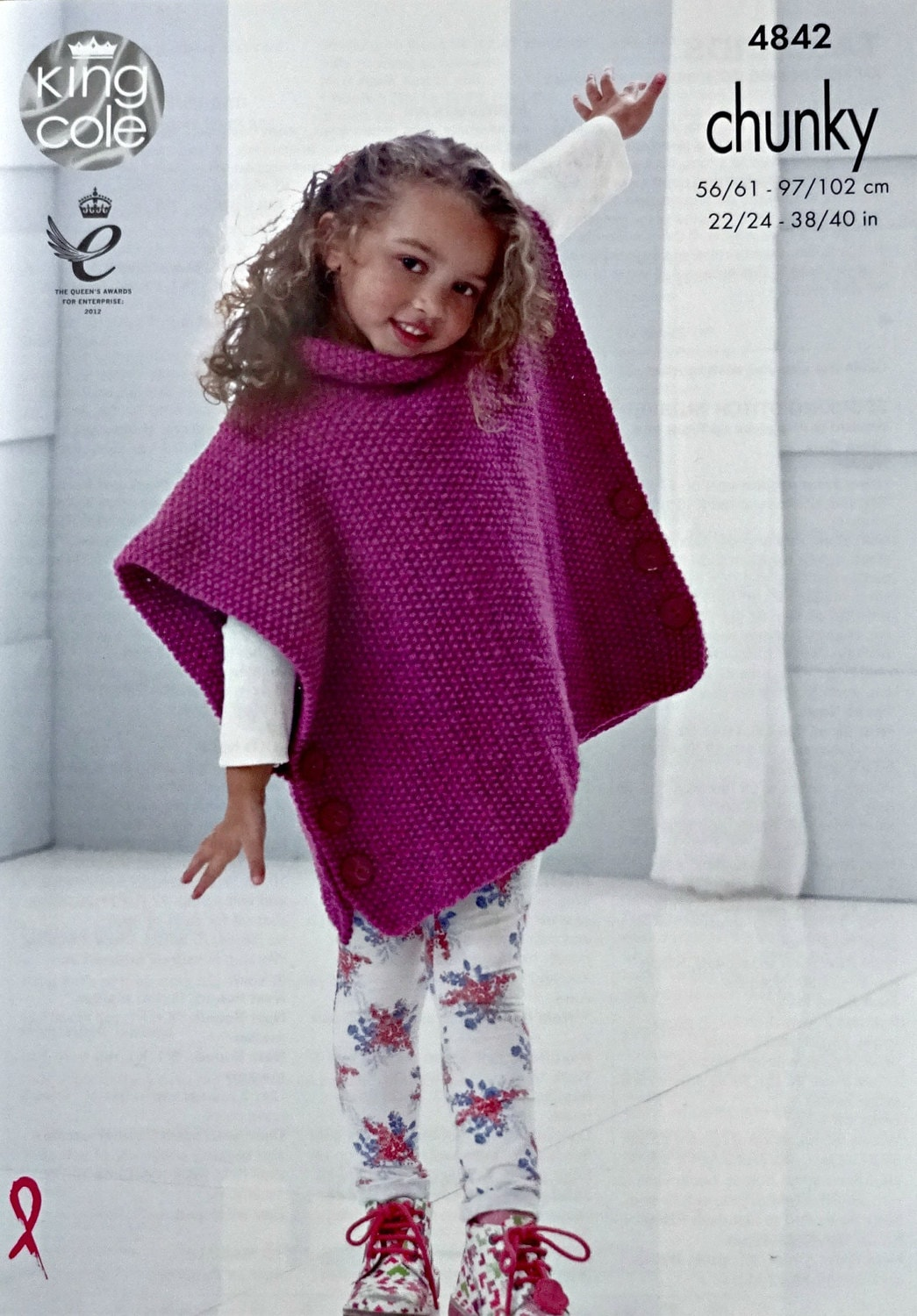 Girls Knitting Pattern K4842 Girlsladies Very Easy Knit Moss Stitch