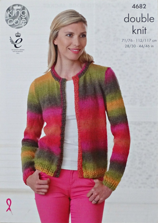ebee0b2a7 Womens Knitting Pattern K4682 Ladies Long Sleeve Round Neck