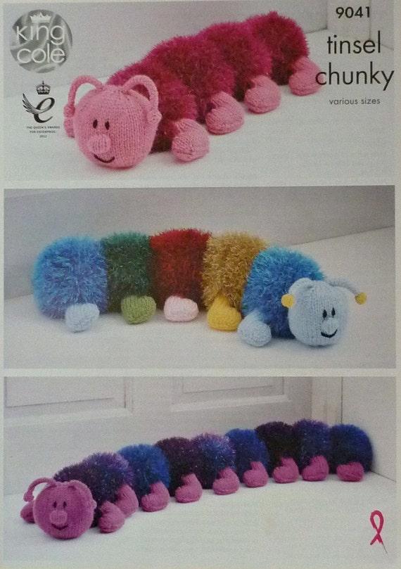 Spielzeug Stricken Muster K9041 Lametta Tausendfüßler