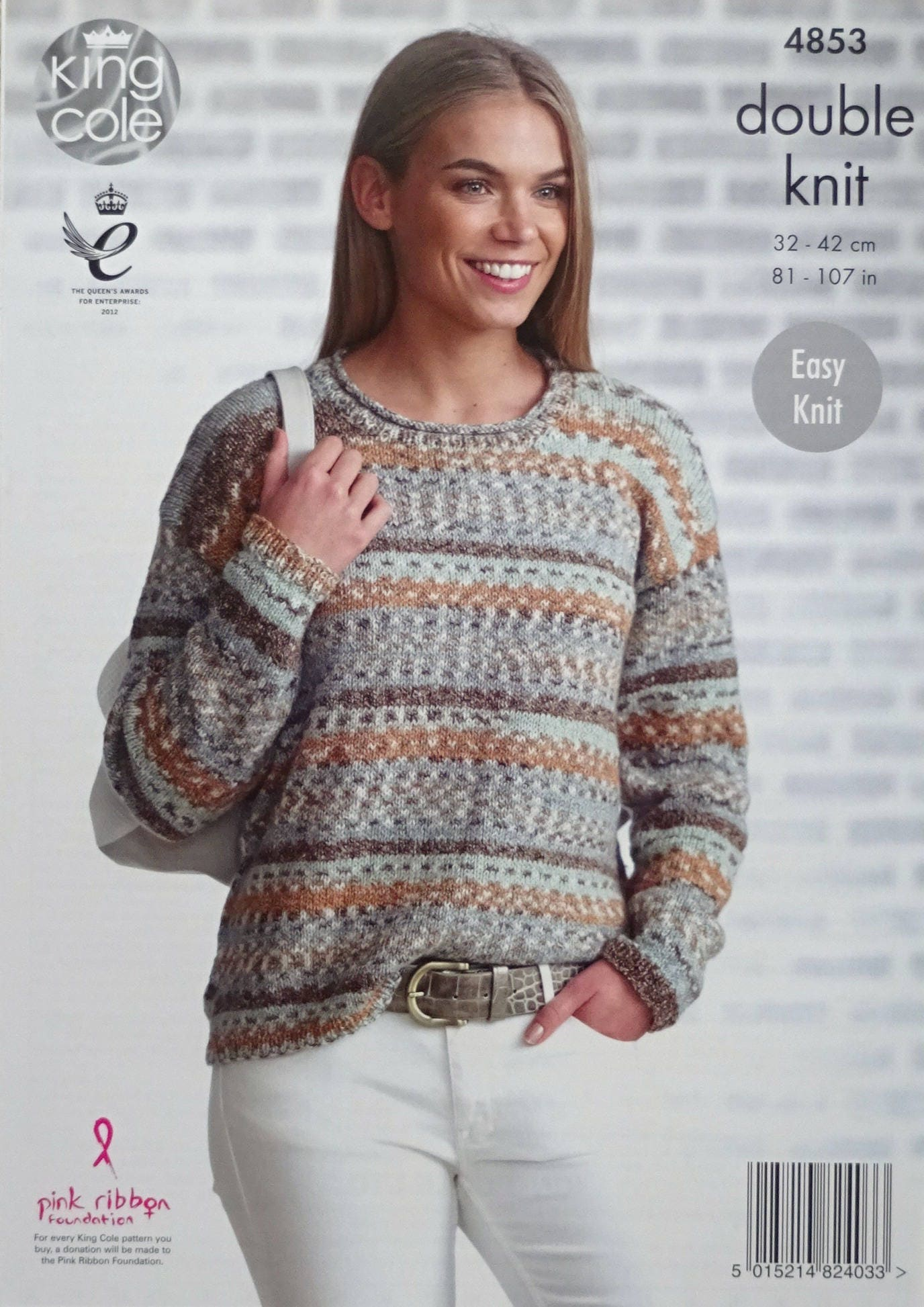 Womens Knitting Pattern K4853 Ladies Easy Knit Long Sleeve Round ...