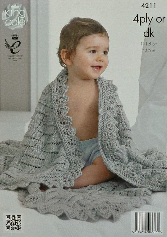 Baby Blanket Knitting Pattern K4211 Babies Easy Lace Etsy