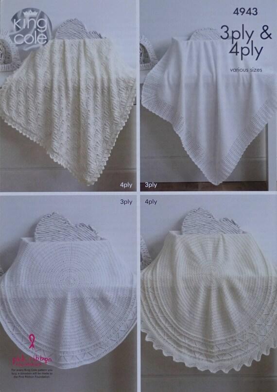 Châle bébé circulaire dans la dentelle traditionnelle 3ply tricot motif