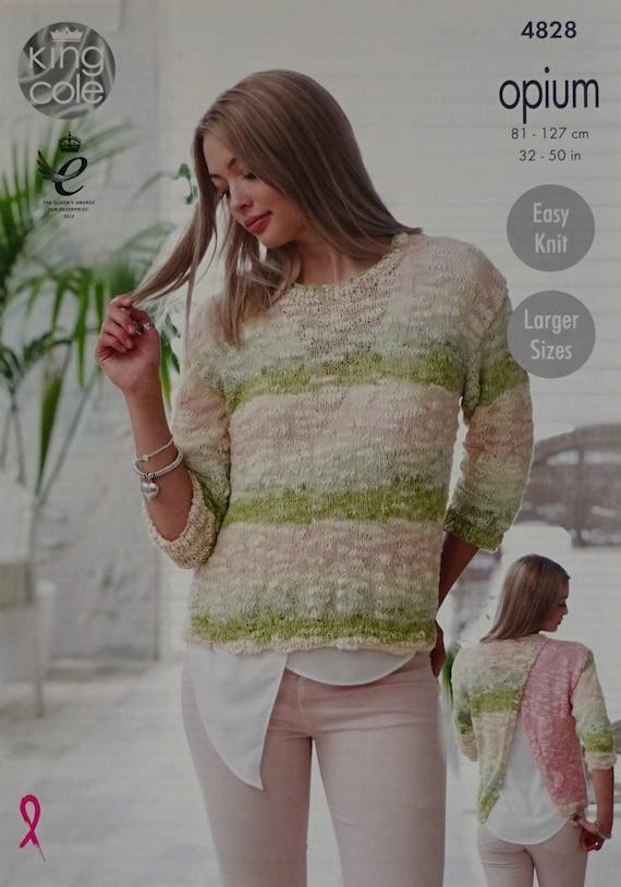 Frauen stricken Muster K4828 Damen einfach Pullover 3/4 Ärmel | Etsy