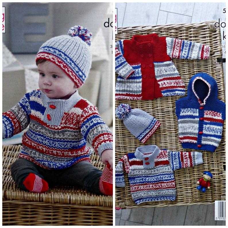 31f778268925 Baby Knitting Pattern K5221 Baby s Jumper Coat Hooded