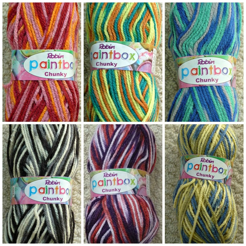 Chunky Knitting Wool/Yarn Wendy Paintbox Yarn Chunky (Bulky) Knitting  Yarn/Wool
