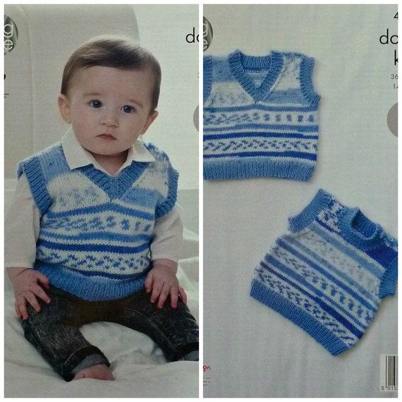 Baby Knitting Pattern K4515 Baby\'s Easy Knit Sleeveless | Etsy