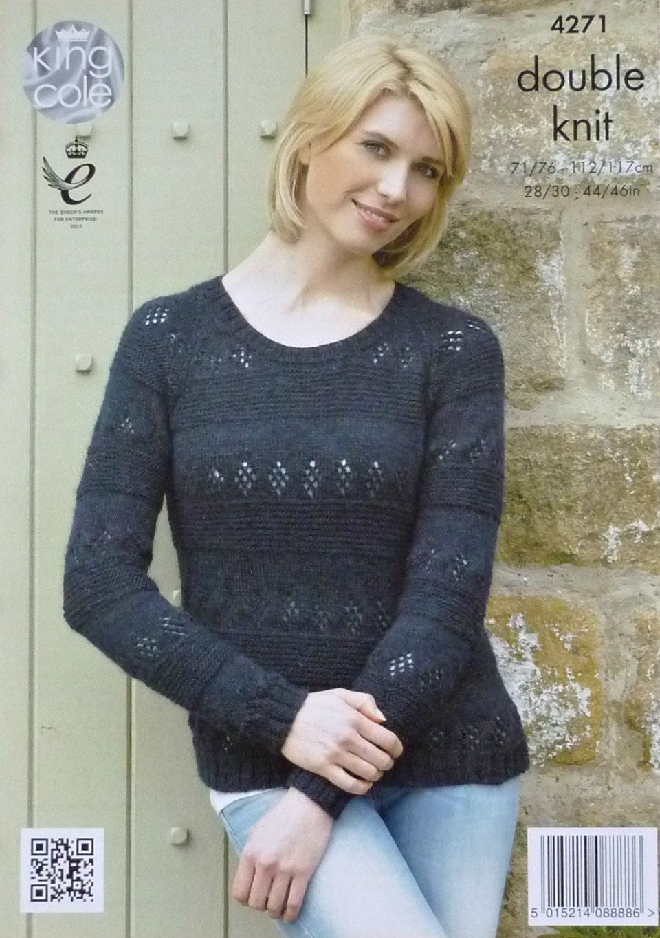 c9c169a79 Womens Knitting Pattern K4271 Ladies Long Sleeve Round Neck ...