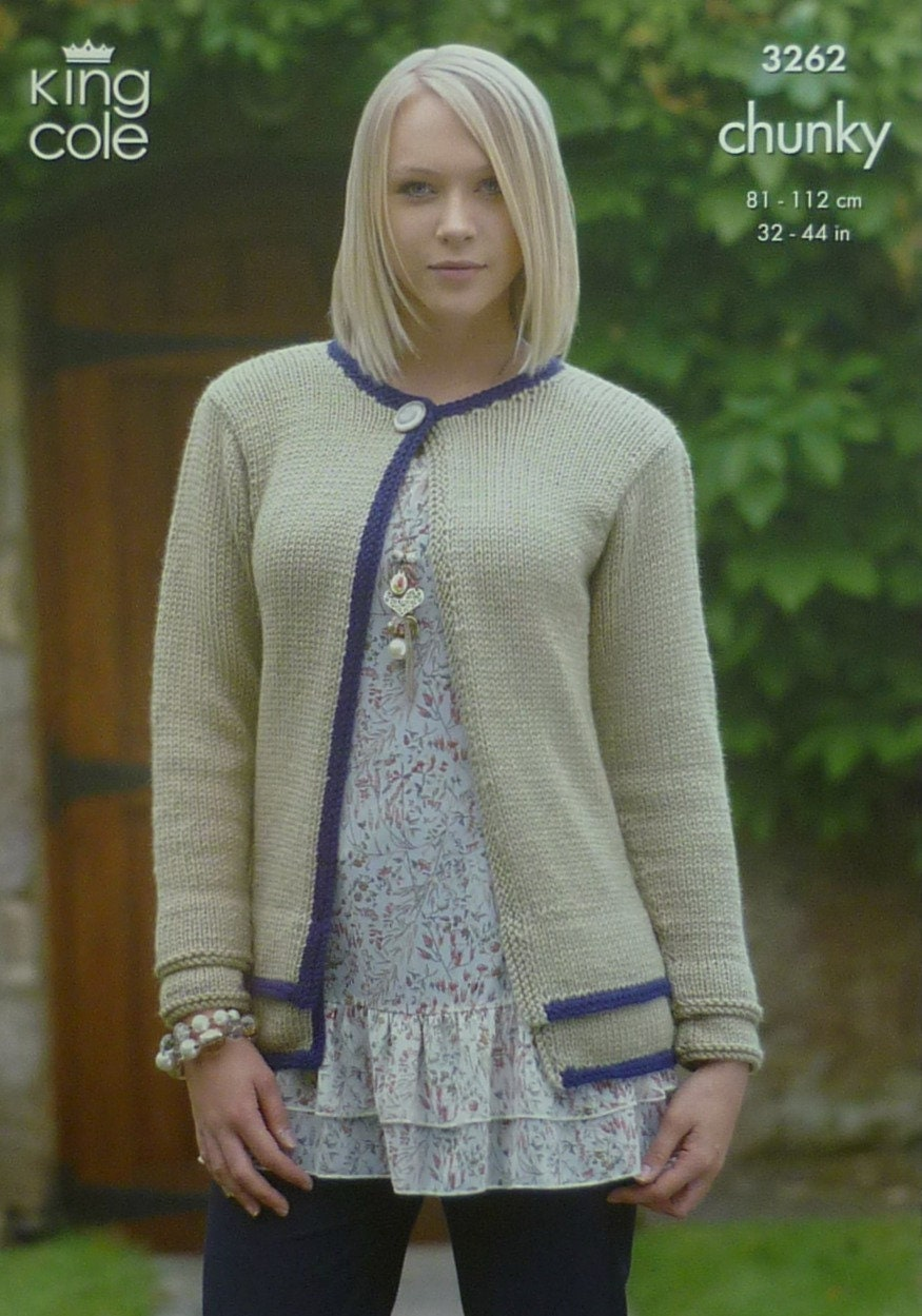 Womens Knitting Pattern K3262 Ladies Long or Short Sleeve ...