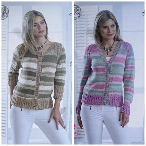 c31b5a8a3 Womens Knitting Pattern K5094 Ladies 3 4 and Long Sleeve Round
