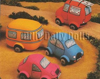 Van, Car, Sport Car and Caravan Soft toy sewing pattern