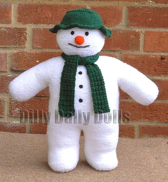 Snowman /& Snowdog Toy  DK Knitting Pattern