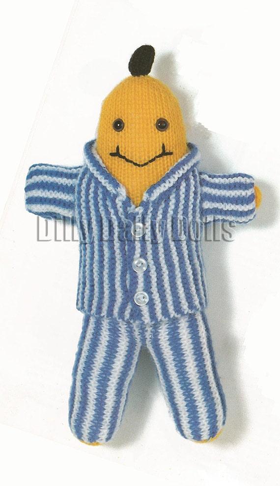 Banana In Pyjamas 30cm Tall And Baby Teddy Bear 10cm Tall Etsy
