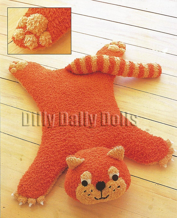 Cat Baby Rug Knitting Pattern In Snowflake Chunky
