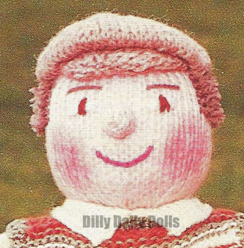 Vintage GOLFER Toy Knitting Pattern