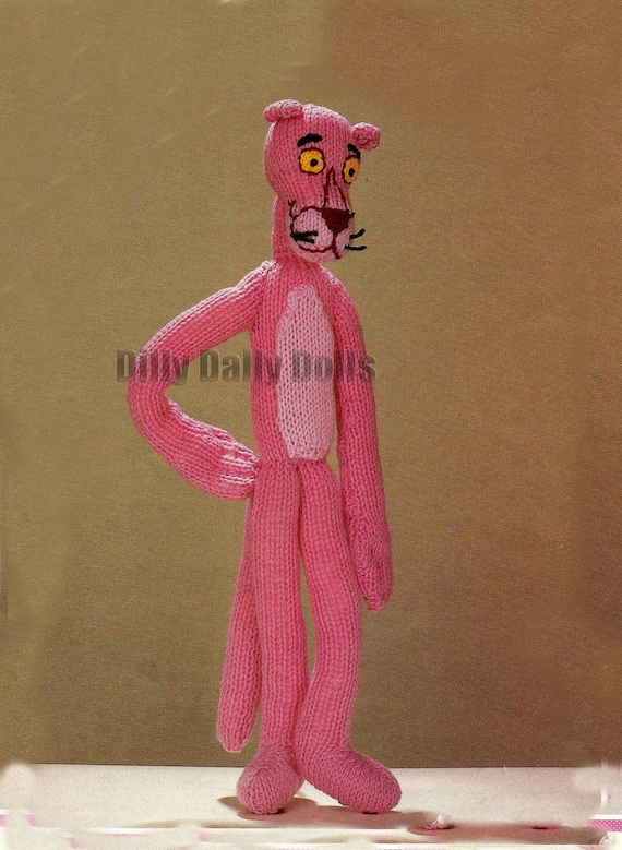 Vintage PINK PANTHER TOY KNITTING PATTERN DK