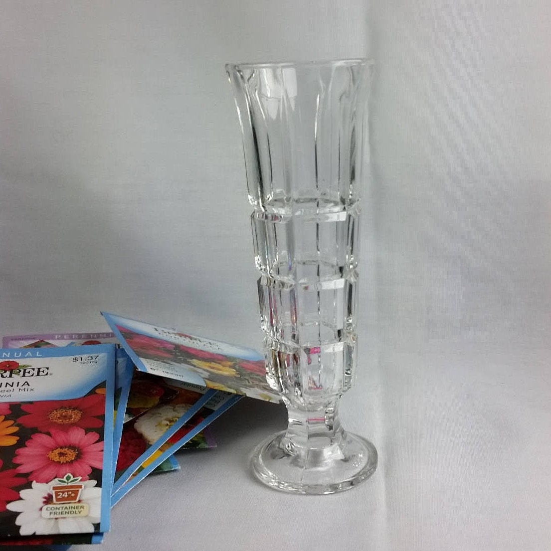 Italian Clear Glass Driveway: Clear Glass Bud Vase Posy Vase Made In Italy Small