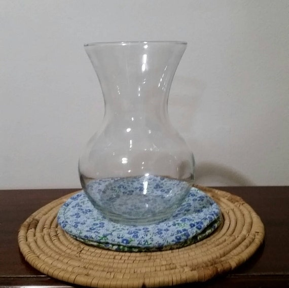 Crystal Vase Large Clear Glass Hourglass Bouquet Vase