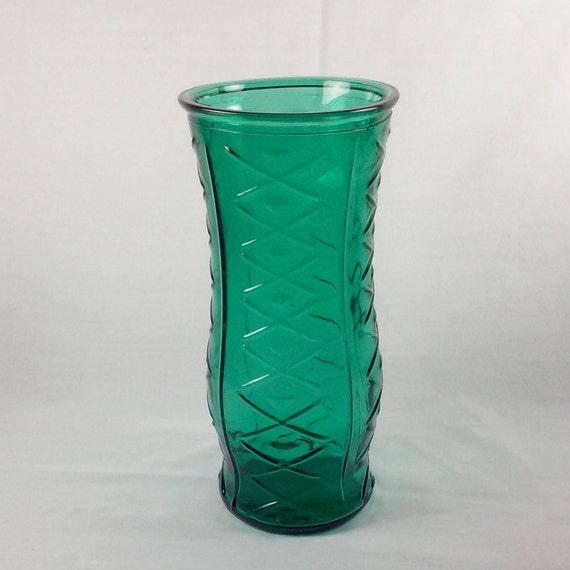 Large Teal Vase Bouquet Vase Eo Brody Co Vintage Etsy