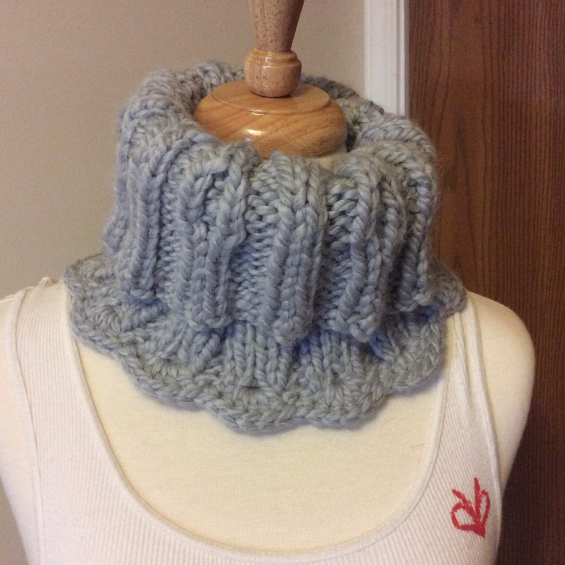 3d4475b41645a ENTWINED Neck Warmer Beanie Cowl Chunky Wool Blend Cable | Etsy