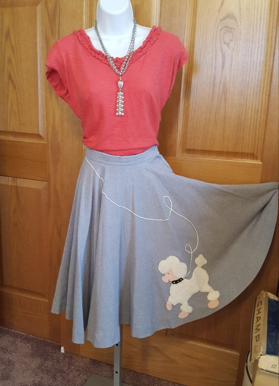 1970s Poodle Circle Skirt Great Condition Blend Fa