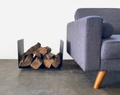 Bent Steel Log Holder - Fireplace Indoor Outdoor Firewood