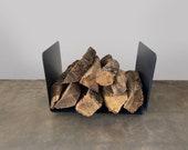 Bent Steel Log Holder - Fireplace Indoor Outdoor Firewood Gift Home Decor