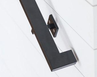 11u0027 Modern Handrail (5 Brackets)   Tube Steel Hand Rail Wall Rail Stair  Step Railing Wall Mount