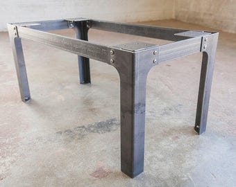 Metal coffee table legs etsy industrial coffee table legs steel metal base 155 inches tall custom orders bench dining bar kitchen modern contemporary handmade watchthetrailerfo