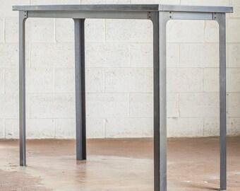 Industrial Bar Table Legs - Steel Metal Base