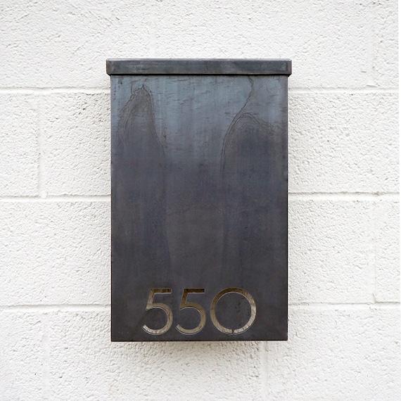 Custom wall mount mailbox Residential Image Etsy The Andover Mailbox Custom Custom Steel Modern Metal Etsy