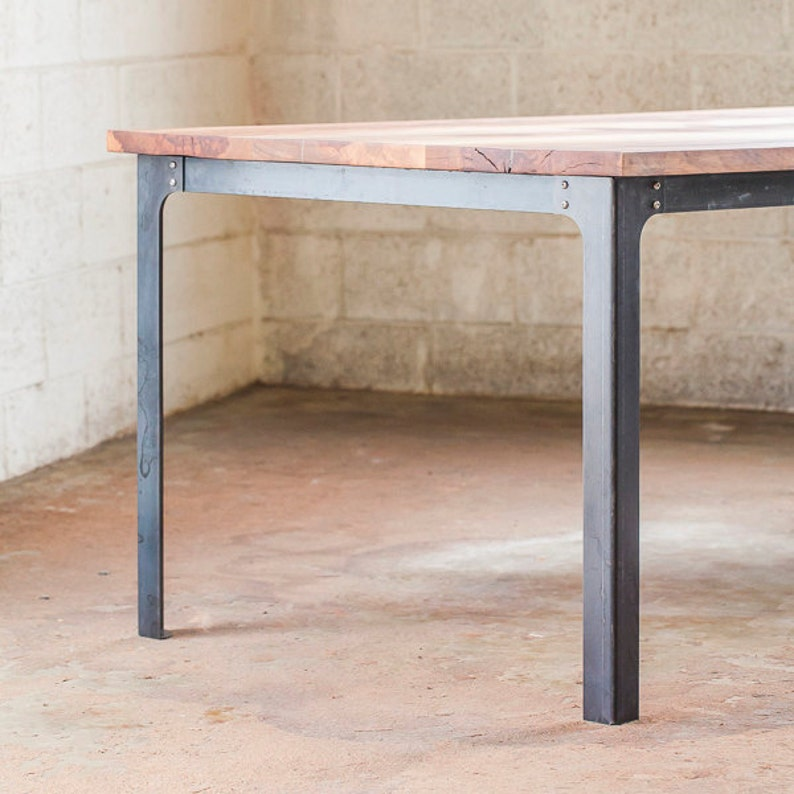 Ordinaire Industrial Dining Table Legs   Steel Metal Base # 28 Inches Tall Custom  Orders Bench Bar Desk Kitchen Modern Contemporary Handmade