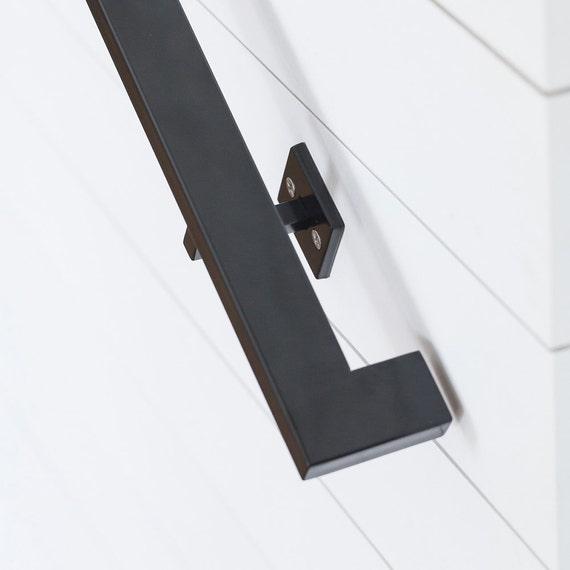 9u0027 Modern Handrail 4 Brackets Tube Steel Hand Rail | Etsy