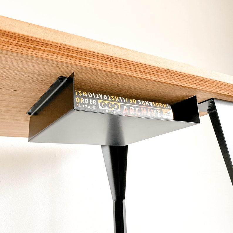 Under Desk Storage Shelf  Home Office Accessory Work From image 0
