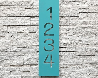 The Congress House Numbers - Steel Modern Metal Address Plaque Plate