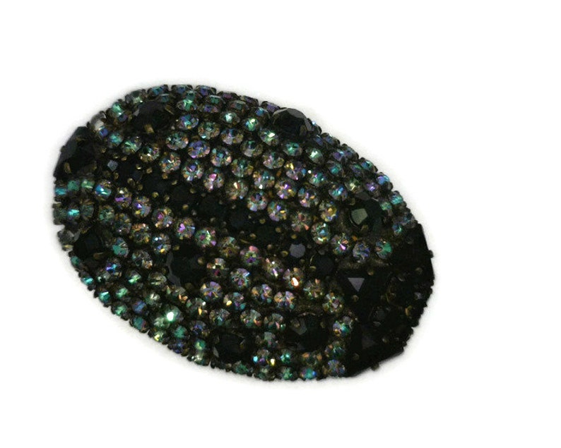 4d9d8de5aae Yves Saint Laurent Lady Bug Brooch Vintage Black and Midnight | Etsy
