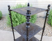 Cast Metal 3 Tier Plant Stand Cherubs Claw Feet Vintage French Tiered Stand Home Decor Ornate Garden Patio Decor Vintagesouthwest