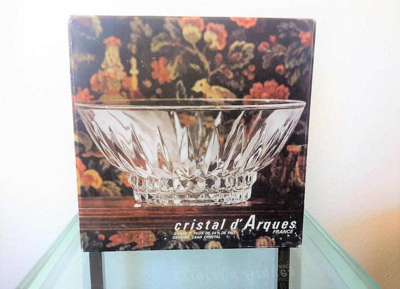 Cristal Darques France Genuine Lead Crystal Vase.Cristal D Arques Crystal Bowl Villandry France Genuine Lead Crystal J G Durand In Original Box