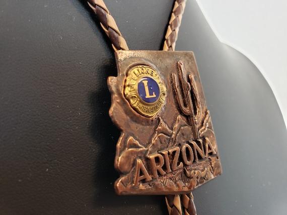 Arizona Lion's Club Bolo Tie / Copper Bolo Tie / A