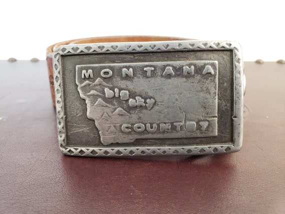Montana Big Sky Country Belt Buckle Including Tool