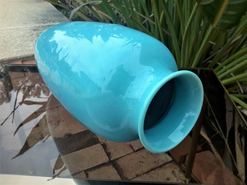 Rookwood Pottery Daffodil Vase  Minimalist Shape 6870  Dated 1946 Floral Design Peking Blue Crystalline Color  FREE SHIPPING