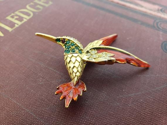 bright soutache brooch Brooch bird Hummingbird pin Colobri pinmingbird Embroidered Hum Soutache brooch Hummingbird