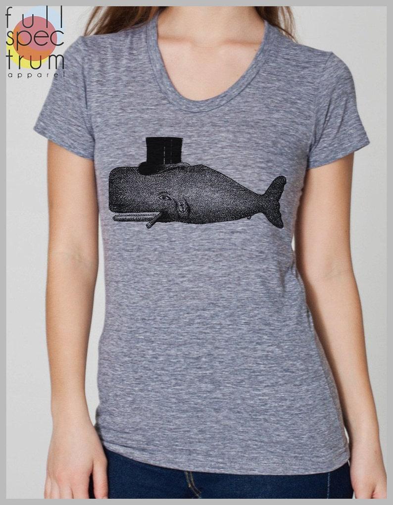 f4498e4003df4 Women's T Shirt Steampunk TopHat Whale Shirt Animal Print | Etsy